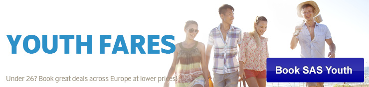 Book SAS Youth fares across Europe at attractive prices now!